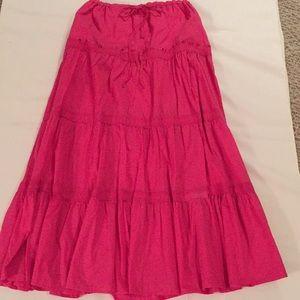 Christopher & Banks Hot Pink Cotton Skirt